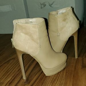 Tan Forever 21 Booties